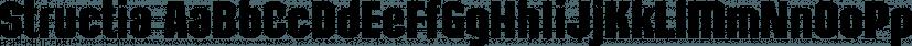 Structia font family by Typodermic Fonts Inc.