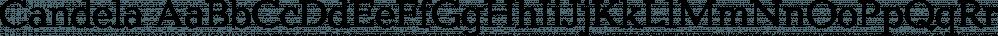 Candela font family by FontSite Inc.
