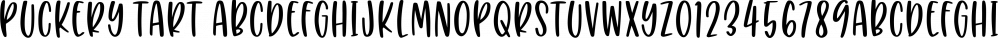 Puckery Tart font family by Missy Meyer