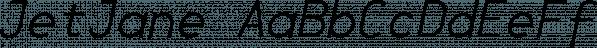 JetJane font family by Ingrimayne Type