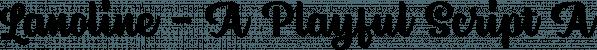 Lanoline font family by Letterhend Studio