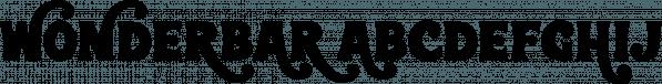 Wonderbar font family by Sharkshock