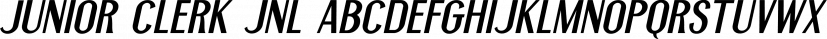Junior Clerk JNL font family by Jeff Levine Fonts