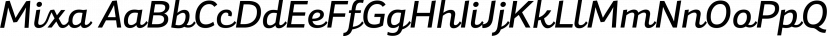 Mixa font family by Fontfabric