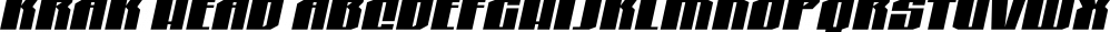 Krak Head font family by Blambot
