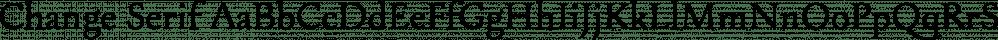 Change Serif font family by BORUTTA
