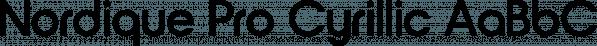 Nordique Pro Cyrillic font family by Leksen Design