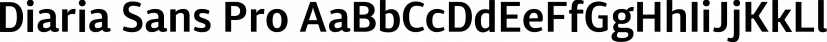 Diaria Sans Pro font family by Mint Type