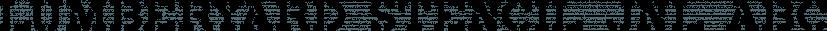 Lumberyard Stencil JNL font family by Jeff Levine Fonts
