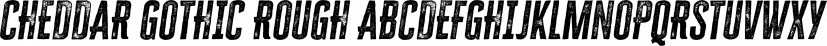 Cheddar Gothic Rough font family by Adam Ladd