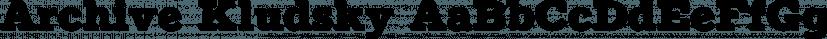 Archive Kludsky font family by ArchiveType