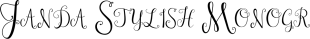 Janda Stylish Monogram font family mini