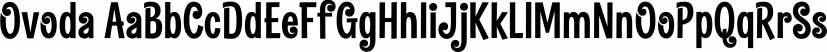 Ovoda font family by Alive Fonts