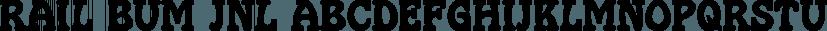 Rail Bum JNL font family by Jeff Levine Fonts
