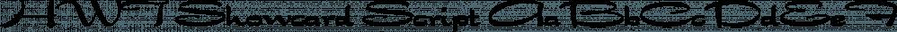 HWT Showcard Script font family by Hamilton Wood Type