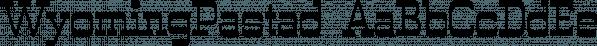WyomingPastad font family by Ingrimayne Type