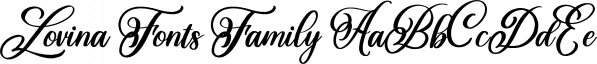 Lovina Fonts Family font family by Alit Design