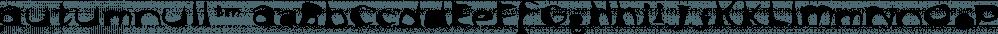 Autumnull™ font family by MINDCANDY