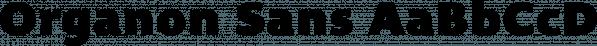 Organon Sans font family by G-Type