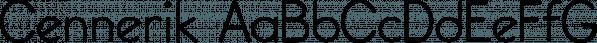 Cennerik font family by Ingrimayne Type