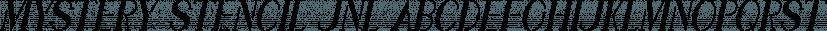 Mystery Stencil JNL font family by Jeff Levine Fonts