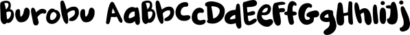 Burobu font family by Hanoded