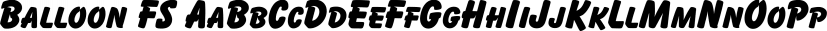 Balloon FS font family by FontSite Inc.