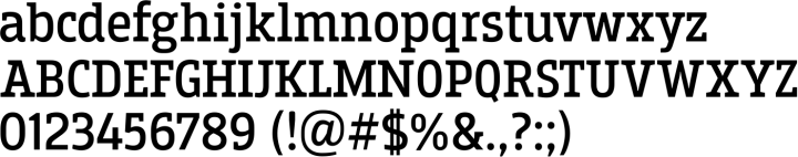 Breakers Slab Font Specimen