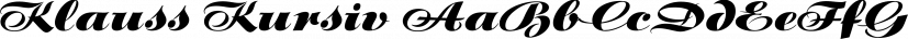 Klauss Kursiv font family by International House of Fonts