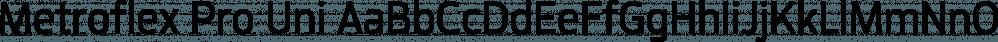 Metroflex Pro Uni font family by GarageFonts