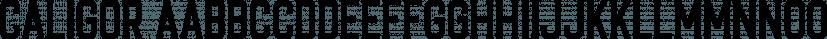 CALIGOR font family by Letterhend Studio