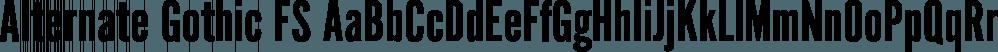 Alternate Gothic FS font family by FontSite Inc.