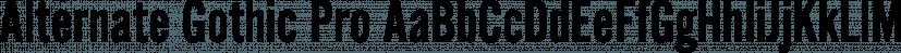 Alternate Gothic Pro font family by SoftMaker