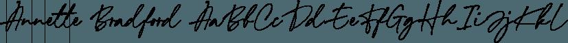 Annette Bradford font family by Letterhend Studio