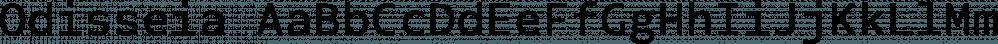 Odisseia font family by Plau