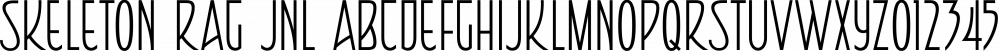 Skeleton Rag JNL font family by Jeff Levine Fonts