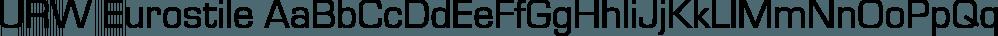 URW Eurostile font family by URW Type Foundry