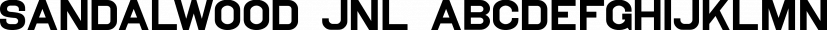 Sandalwood JNL font family by Jeff Levine Fonts