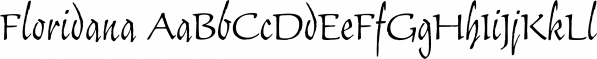 Floridana font family by preussTYPE