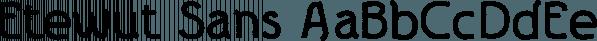 Etewut Sans font family by Etewut