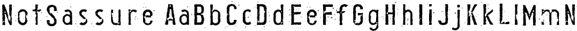 NotSassure font family by Australian Type Foundry