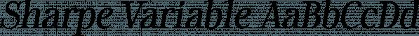Sharpe Variable font family by Måns Grebäck