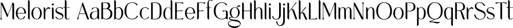 Melorist font family by Letterhend Studio
