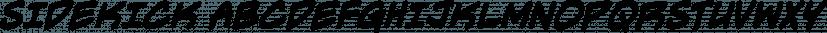 Sidekick font family by Blambot