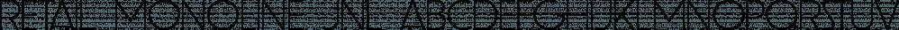 Retail Monoline JNL font family by Jeff Levine Fonts