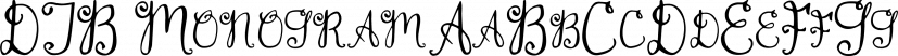 DJB Monogram font family by Darcy Baldwin Fonts