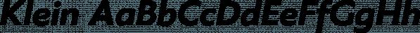 Klein font family by Zetafonts