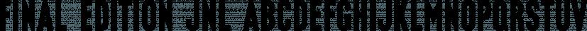 Final Edition JNL font family by Jeff Levine Fonts