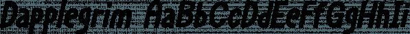 Dapplegrim font family by Hanoded