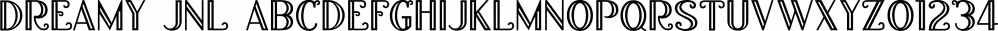 Dreamy JNL font family by Jeff Levine Fonts